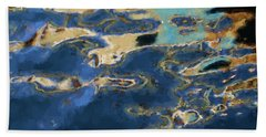 Color Abstraction Xxxvii - Painterly Beach Sheet by David Gordon