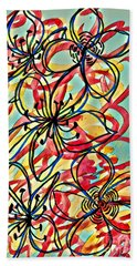 Color And Flow Beach Towel