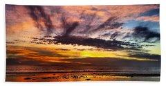 Color Burst Malibu Sunset Beach Towel
