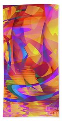 Color Chaos Beach Towel