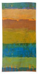 Color Collage Three Beach Sheet by Michelle Calkins