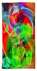Beach Sheet featuring the digital art Color Dance 3720 by Rafael Salazar