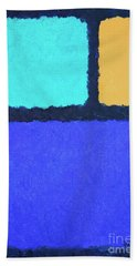 Beach Towel featuring the painting Color Fields by Jutta Maria Pusl