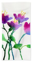Color Flowers Beach Towel
