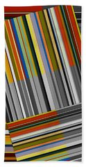 Beach Towel featuring the digital art Color In Black And White by Michelle Calkins