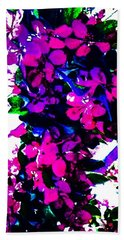 Color Me With Flowers Beach Towel