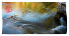 Color On The Swift River Nh Beach Towel by Michael Hubley