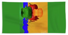 Beach Sheet featuring the photograph Color Pop Peppers By Kaye Menner by Kaye Menner