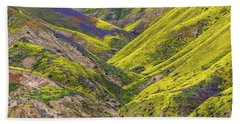 Beach Towel featuring the photograph Color Valley by Peter Tellone