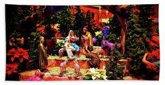 Color Vibe Nativity - Border Beach Towel