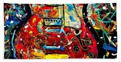 Color Wheel Guitar Beach Towel