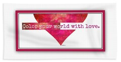 Color Your World 2 Beach Towel
