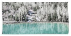 Colorado Aqua Woodland Forest Landscape Beach Towel by Andrea Hazel Ihlefeld