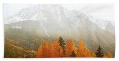 Colorado Aspen Trees Mountain Dreamy Landscape Beach Sheet by Andrea Hazel Ihlefeld