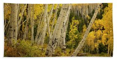 Colorado Fall Aspen Grove Beach Towel