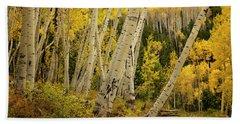 Colorado Fall Aspen Grove Beach Sheet