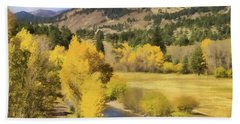 Colorado Fall Mountains Beach Sheet