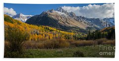 Beach Towel featuring the photograph Colorado Fall by Steven Reed