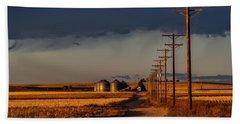 Colorado Farm Sunset Beach Towel