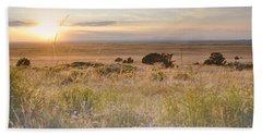 Colorado Field Sunset Landscape Beach Sheet by Andrea Hazel Ihlefeld