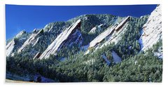 All Fivecolorado Flatirons Beach Sheet by Marilyn Hunt