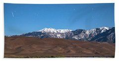 Colorado Great Sand Dunes With Falling Star Beach Sheet by James BO Insogna