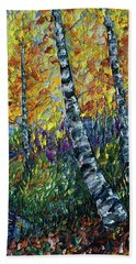 Glimpses Of Colorado Fall Colors Beach Towel