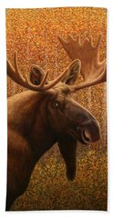 Colorado Moose Beach Towel by James W Johnson