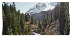 Colorado Mountain River Landscape Beach Sheet by Andrea Hazel Ihlefeld