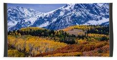 Colorado Rockies In The Fall - Ridgway Beach Towel by Gary Whitton