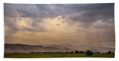 Beach Towel featuring the photograph Colorado Rocky Mountain Foothills Storms by James BO Insogna