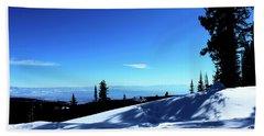 Colorado Rocky Mountain Winter Landscape I Beach Sheet