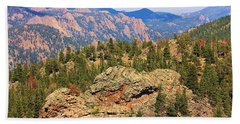 Beach Towel featuring the photograph Colorado Rocky Mountains by Sheila Brown