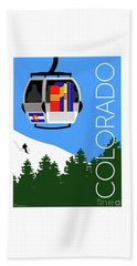 Colorado Ski Country Blue Beach Towel