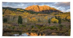 Beach Towel featuring the photograph Colorado Sunrise by Phyllis Peterson