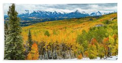 Colorado Valley Of Autumn Color Beach Towel by Teri Virbickis