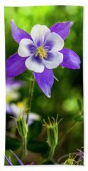 Colorado Wildflower Columbines Beach Sheet by Teri Virbickis