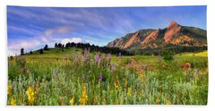Colorado Wildflowers Beach Towel by Scott Mahon