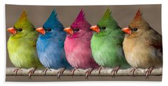 Colored Chicks Beach Sheet by John Haldane