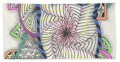Colored Frames Beach Towel by Jan Steinle