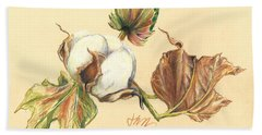 Colored Pencil Cotton Plant Beach Sheet