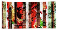 Colored Windows Beach Towel by Paula Ayers