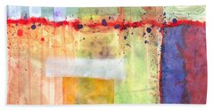 Beach Towel featuring the painting Colorfields Watercolor by Kristen Fox