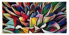 Colorful Abstract Dahlia Beach Towel
