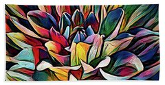 Colorful Abstract Dahlia Beach Sheet