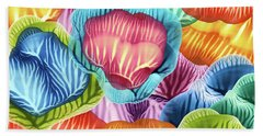 Colorful Abstract Flower Petals Beach Towel