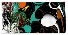 Colorful Abstract Beach Towel by Jessica Wright