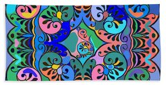 Colorful Abstract Ornaments Design  Beach Towel
