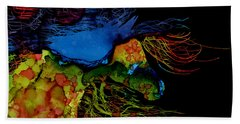 Colorful Abstract Wild Horse  Beach Towel