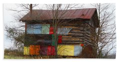 Colorful Barn Beach Sheet by Kathryn Meyer